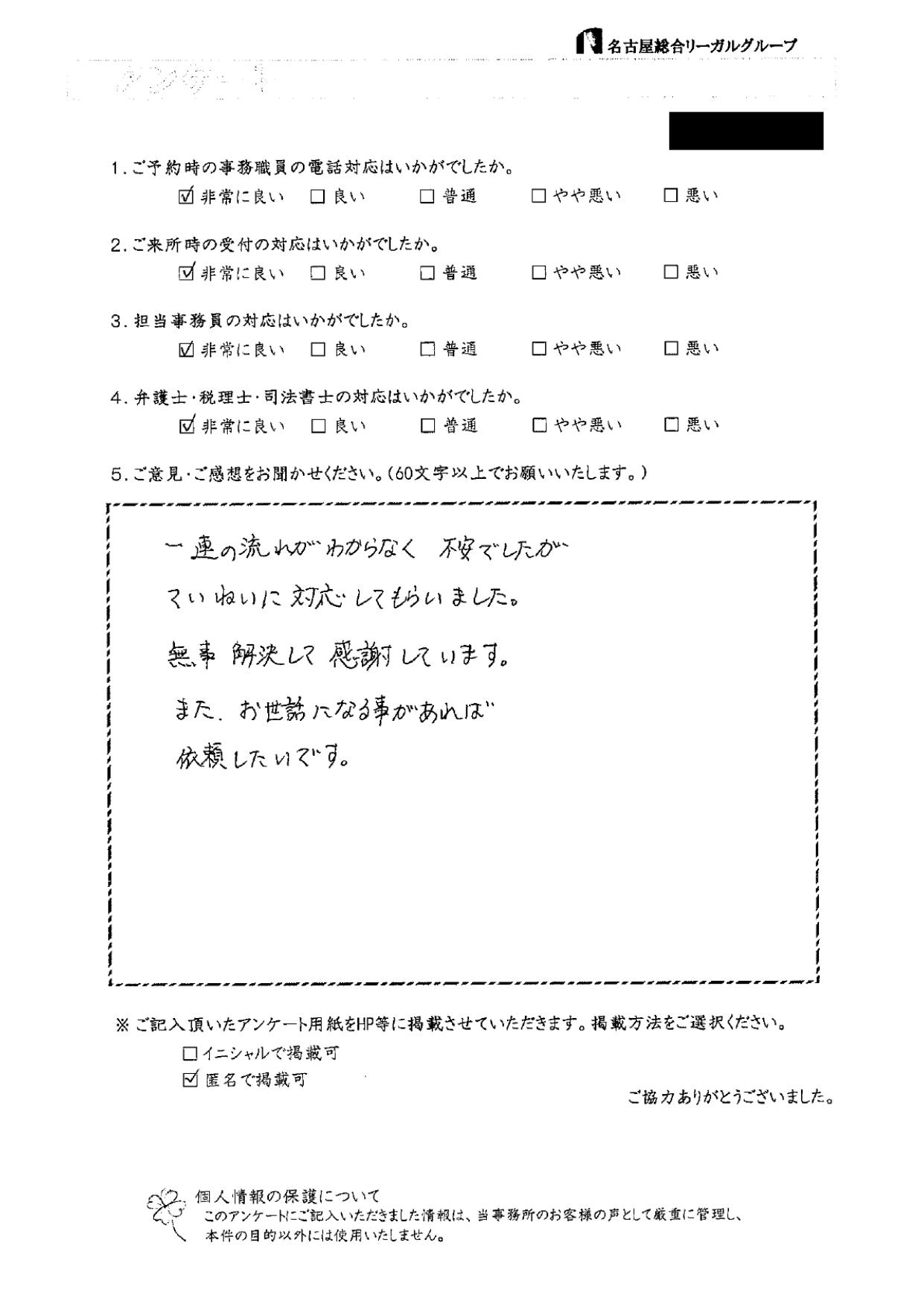 No.16 匿名希望 様